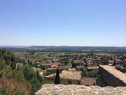 Vue du château sur le Rhône